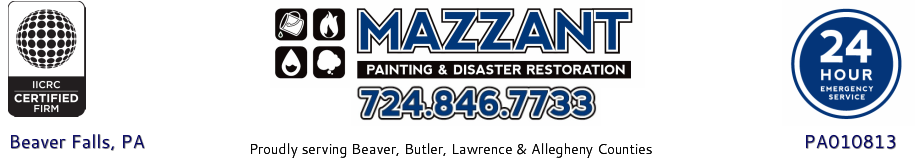 Mazzant Painting & Disaster Restoration - Call 724.846.7733